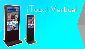 iToucVertical Touchscreen Social Media Kiosk