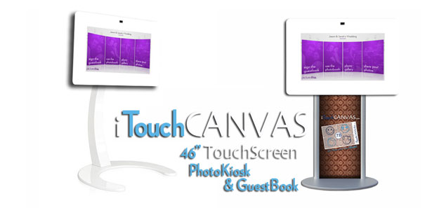 Los Angeles iTouch Canvas 46 Touchscreen Photo Booth Rental